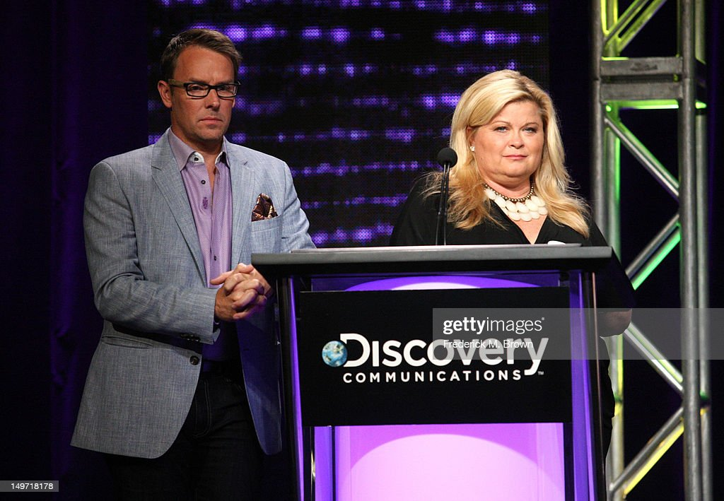 Oprah Winfrey Network Erik Logan and Sheri Salata speak at the 'Married to the Army: Alaska' discussion panel during the OWN portion of the 2012 Summer Television Critics Association tour at the Beverly Hilton Hotel on August 2, 2012 in Los Angeles, California.