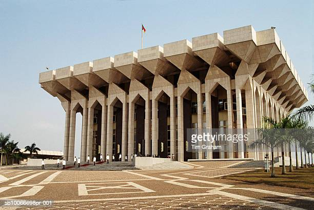 president's palace, yaounde, cameroon - cameroon stock pictures, royalty-free photos & images