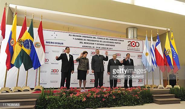 Presidents Rafael Correa of Ecuador, Dilma Rousseff of Brazil, Fernando Lugo of Paraguay, Jose Mujica of Uruguay and the Vice-President of Colombia...