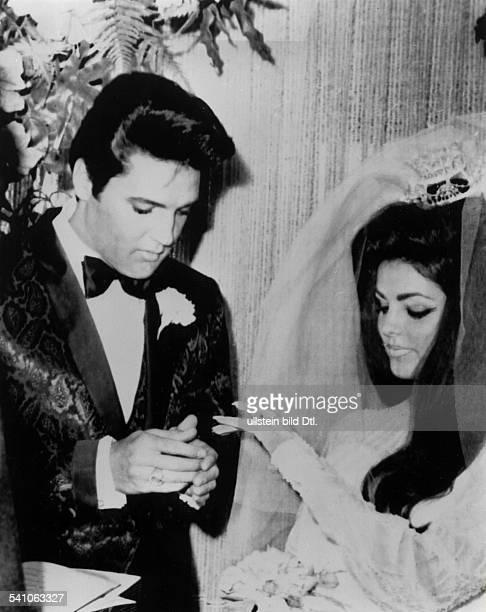 Presley Elvis *Saenger Schauspieler USA Hochzeit mit Priscilla Beaulieu