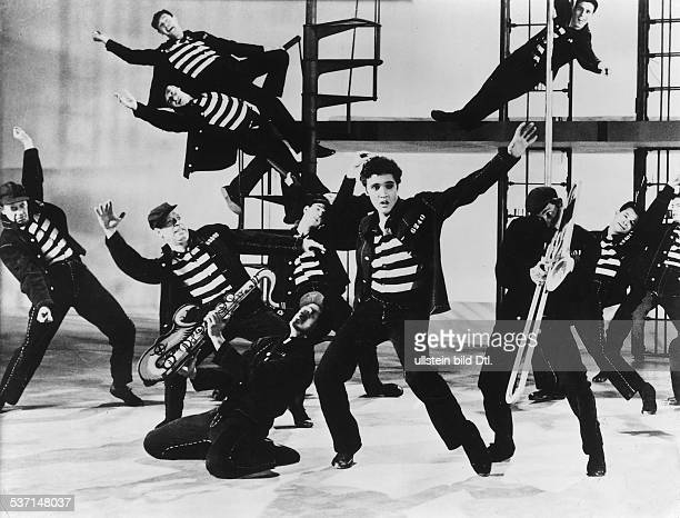 Presley Elvis Aaron Singer Musician Actor USA Scene from the movie 'Jailhouse Rock'' Directed by Richard Thorpe USA 1957 Produced by Avon Productions...