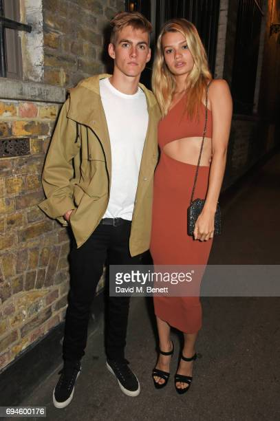Presley Gerber and Cayley King attend a celebration of the Stella McCartney AW17 collection and film launch at Ye Olde Mitre on June 10 2017 in...