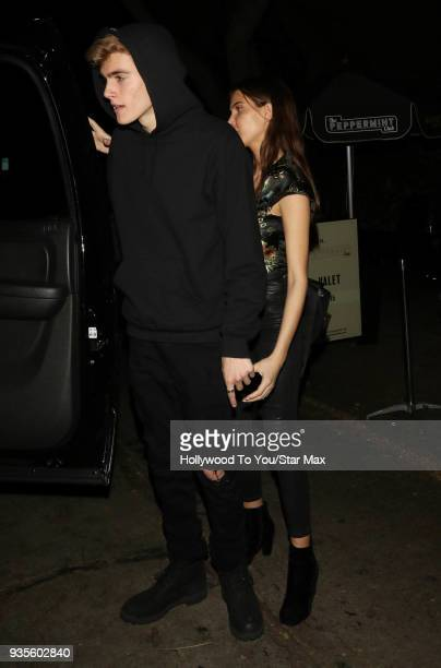 Presley Gerber and Charlotte D'Alessio are seen on March 20 2018 in Los Angeles California
