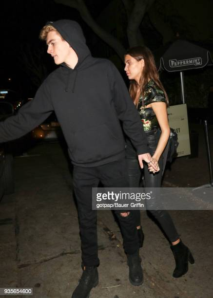 Presley Gerber and Charlotte D'Alessio are seen on March 21 2018 in Los Angeles California
