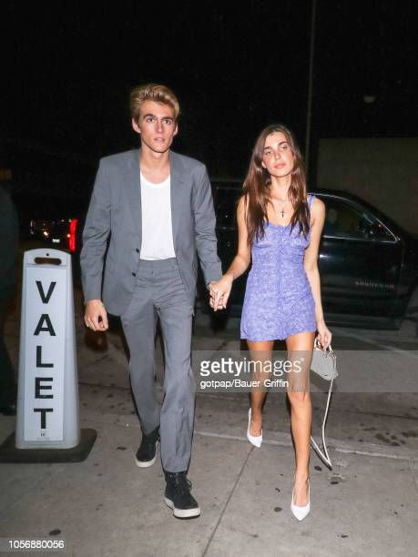 Presley Gerber and Charlotte D'Alessio are seen on November 02 2018 in Los Angeles California