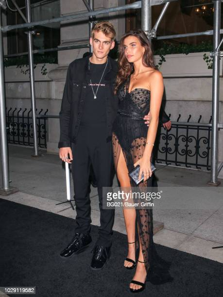 Presley Gerber and Charlotte D'Alessio are seen on September 07 2018 in New York City