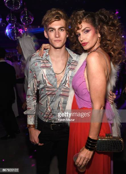 Presley Gerber and Cindy Crawford attends Casamigos Halloween Party on October 27, 2017 in Los Angeles, California.