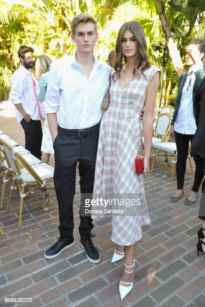 Presley Gerber and Kaia Gerber attend CFDA/Vogue Fashion Fund Show and Tea at Chateau Marmont at Chateau Marmont on October 25 2017 in Los Angeles...
