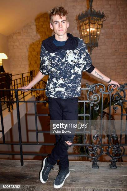 Presley Gerber attends the Balmain After Party during Paris Fashion Week on June 24 2017 in Paris France