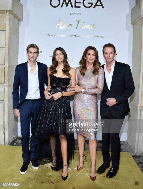 Presley GerberKaia GerberCindy Crawford and Rande Gerber attend'Her Time' Omega Photocall as part of the Paris Fashion Week Womenswear Spring/Summer...