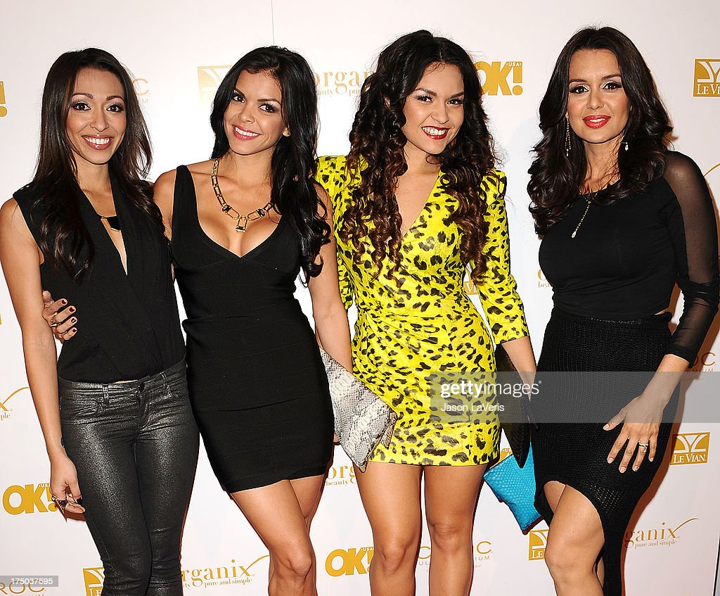 Presley Hernandez, Tiara Hernandez, Tahiti Hernandez and Jaime Bayot of the girl group The Lylas attend OK! Magazine's pre-Grammy event at Sound on February 7, 2013 in Hollywood, California.