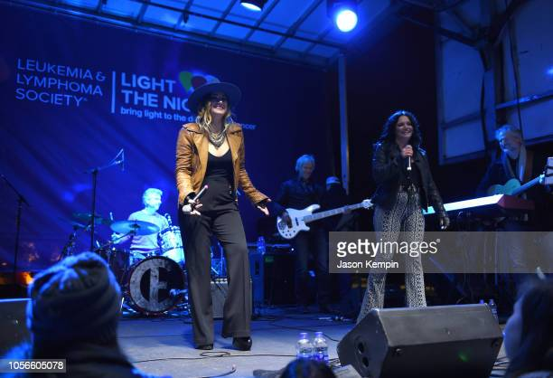 Presley Tucker and Spencer Bartoletti of Reverie Lane perform at Charles Esten's Light The Night Walk And Light The Late Night Concert at Nissan...