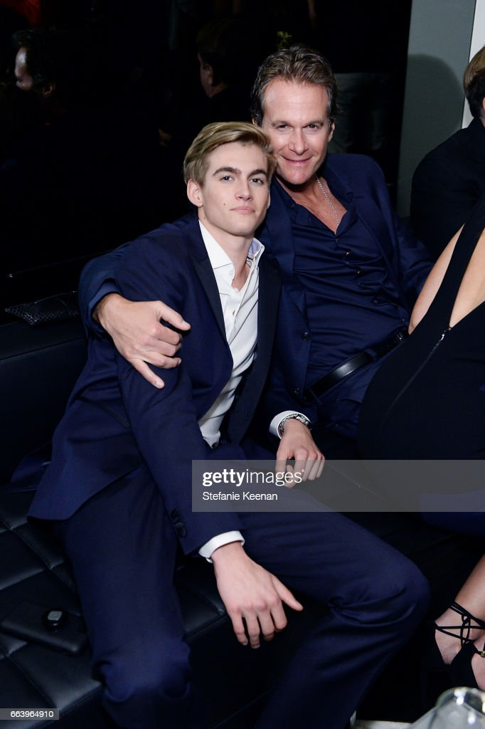 Presley Walker Gerber and Rande Gerber attend The Daily Front Row and REVOLVE FLA after party at Mr. Chow hosted by Mert Alas on April 2, 2017 in Los Angeles, California.