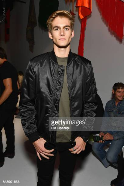 Presley Walker Gerber attends the Calvin Klein Collection fashion show during New York Fashion Week on September 7 2017 in New York City