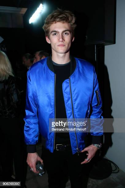Presley Walker Gerber attends the YSL Beauty Hotel event during Paris Fashion Week Menswear Fall/Winter 20182019 on January 17 2018 in Paris France