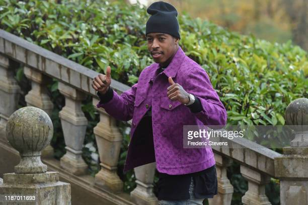 Presnel Kimbembe of France arrives ahead of a training session on November 11 2019 in Clairefontaine France France will play against Moldova in their...