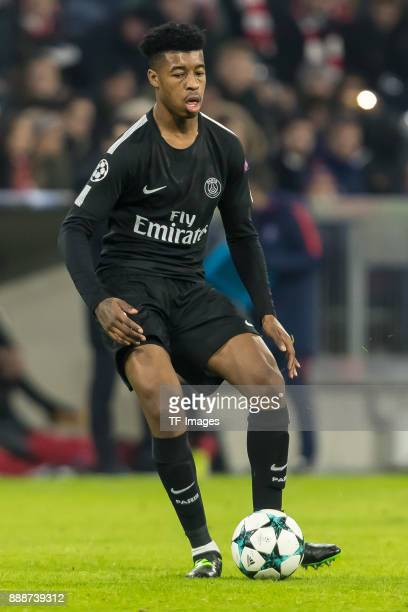Presnel Kimpembe of Paris SaintGermain controls the ball during the UEFA Champions League group B match between Bayern Muenchen and Paris...