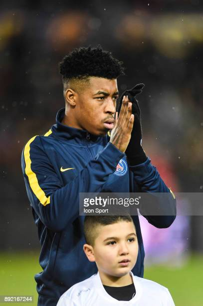 Presnel Kimpembe of PSG during the french League Cup match Round of 16 between Strasbourg and Paris Saint Germain on December 13 2017 in Strasbourg...