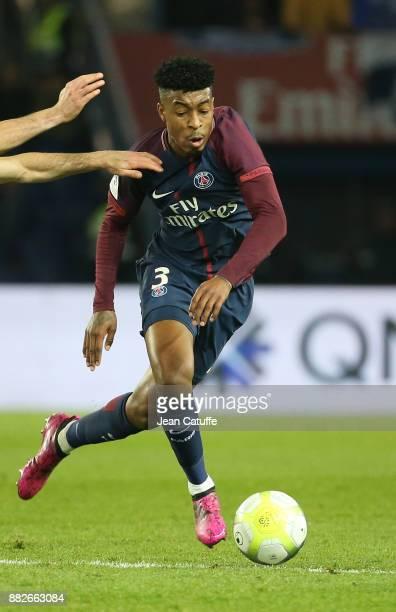 Presnel Kimpembe of PSG during the French Ligue 1 match between Paris Saint Germain and Troyes ESTAC at Parc des Princes on November 29 2017 in Paris