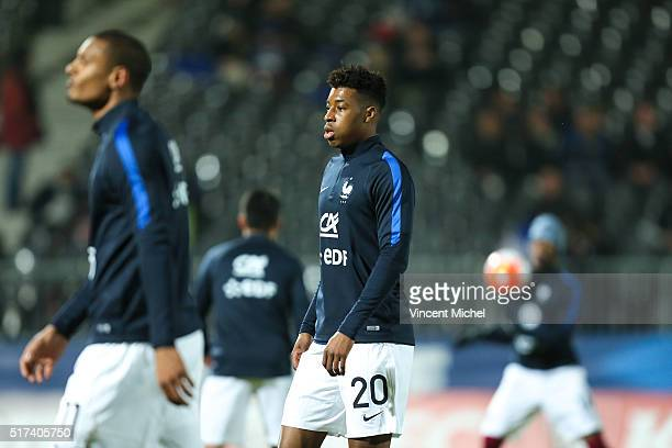 PresnelKimpembe of France during the Uefa U21 European Championship qualifier between France and Scotland at Stade Jean Bouin on March 24 2016 in...
