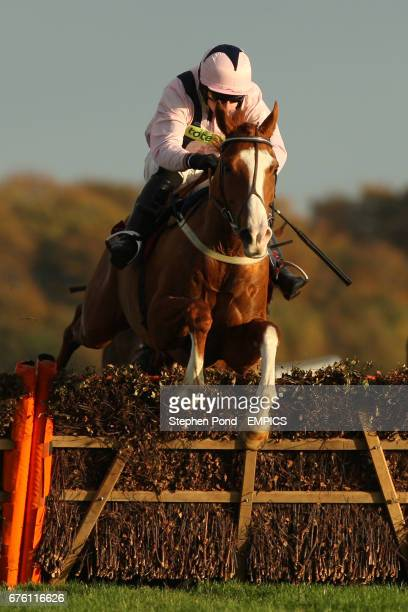 Presque Perdre ridden by Michael O'Connell during The Subscribe On Line At racingukcom Handicap Hurdle Race