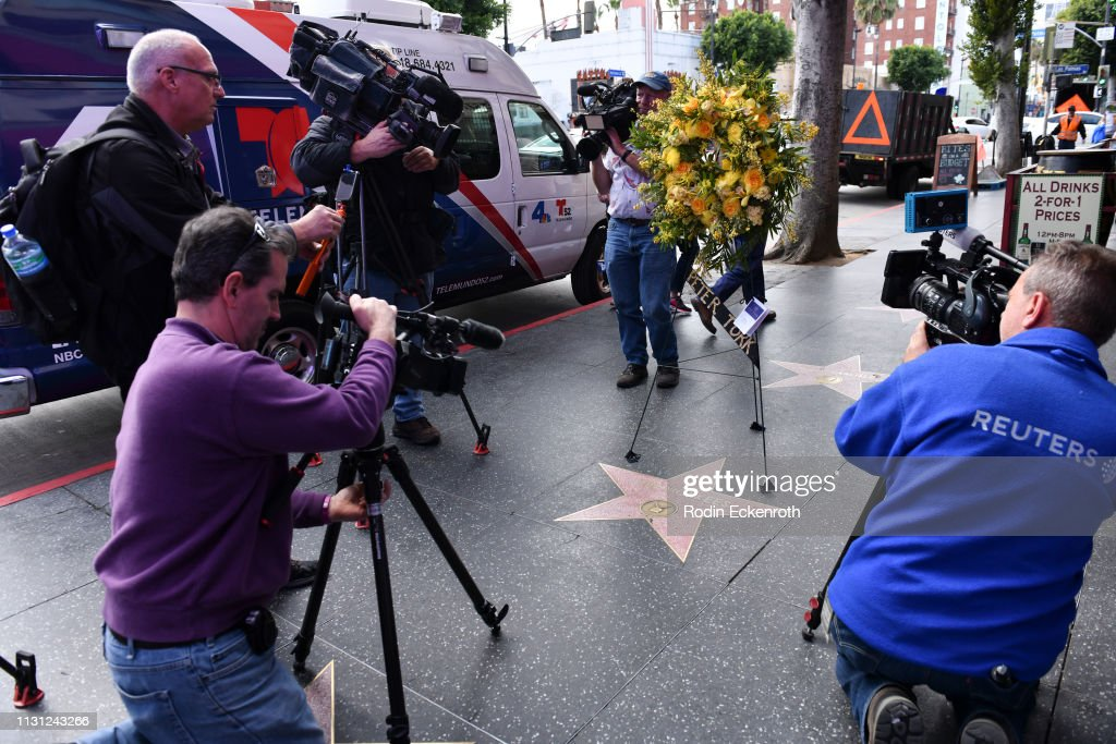 CA: Flowers Placed In Remembrance On The Hollywood Walk Of Fame Star Of Peter Tork Of The Monkees