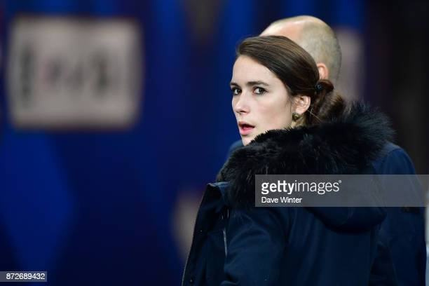Press attache for the France women team Laura Goutry during the international friendly match between France and Wales at Stade de France on November...
