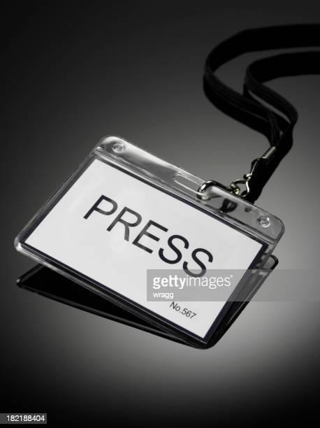 Press Badge in a Plastic Holder