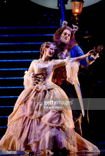 Press call for the musical Beauty and the Beast on October 3 2007 in Madrid Spain