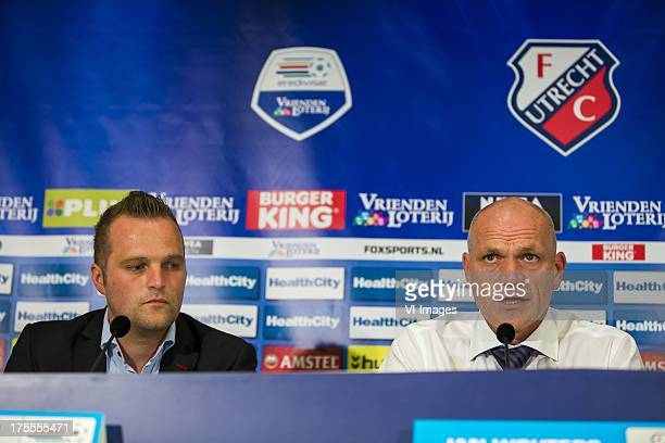 Press Chef Martin Versteegh of FC Utrecht Coach Jan Wouters of FC Utrecht during the Dutch Eredivisie match between FC Utrecht and Go Ahead Eagles on...