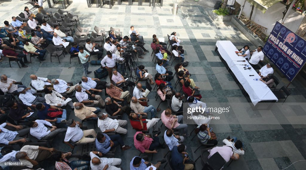 Press Club Of India Solidarity Meeting In Protest Against Brutal Killing Of Senior Journalist Shujaat Bukhari In Srinagar
