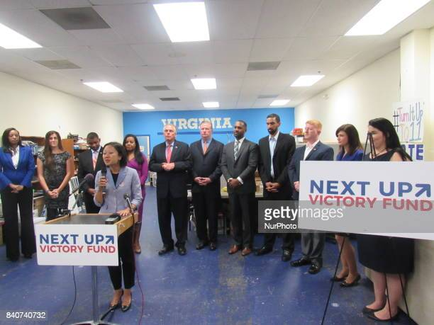 Press conference announcing Next Up Victory Funds Virginia House of Delegates Endorsements in Alexandria VA on August 29 2017