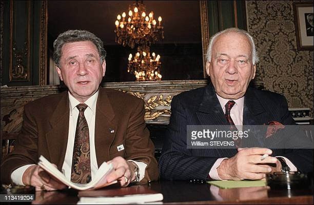 Press conference at French Football Federation headquarters On November 30Th1990