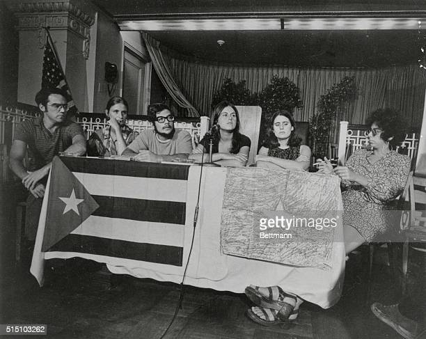 A Press Conference at the Diplomatic Hotel is shown here The conference was held by a delegation of white American Revolutionaries who went to Cuba...