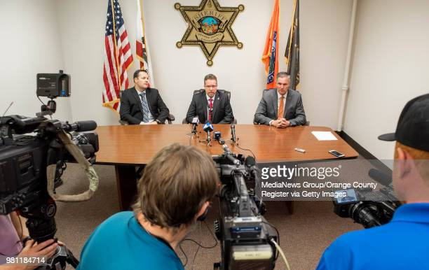 A press conference at the Orange County Sheriff's Department in Santa Ana on Wednesday April 25 2018 was held to discuss the arrest of Joseph James...