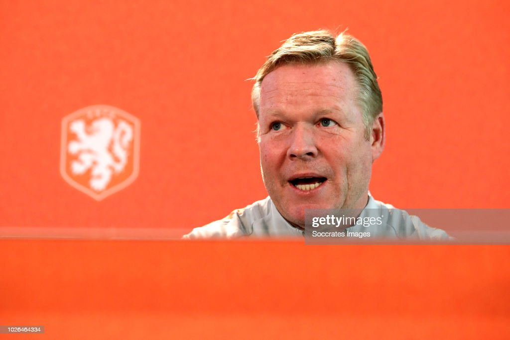 Press conference coach Ronald Koeman of Holland during the Press conference Ronald Koeman at the KNVB Campus on September 3, 2018 in Zeist Netherlands