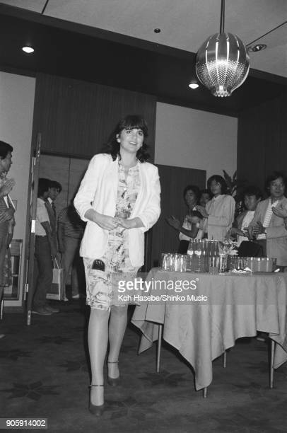 Press conference for The California Live tour at a hotel September 9 Tokyo Japan Linda Ronstadt