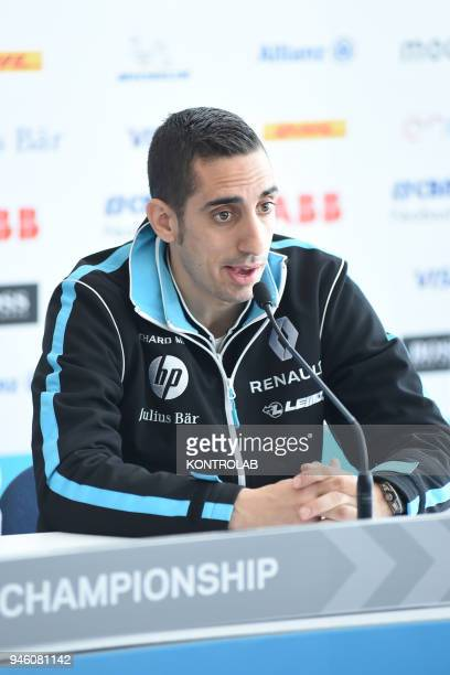 Press conference for the presentation of the EPrix of Rome Formula E car race with electric cars Sebastian Buemi pilot of Renault EDream