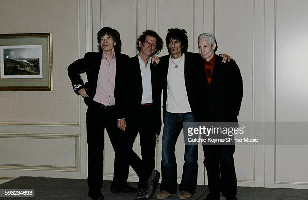 Press conference for The Rolling Stones Licks Tour Tokyo March 2003