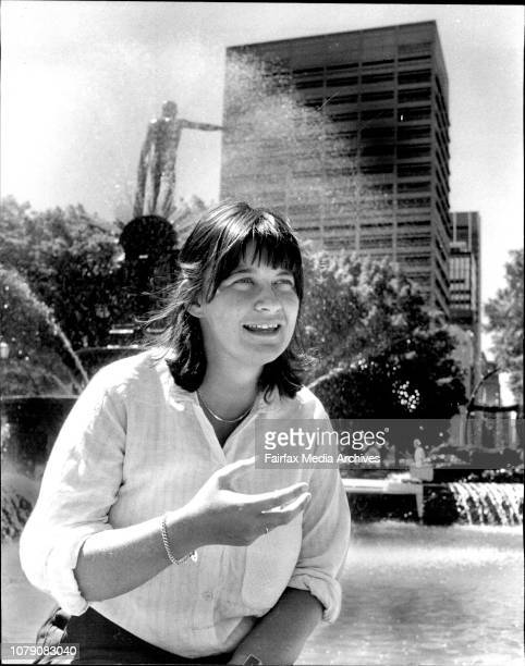 Press Conference held by Wendy Bacon at the Archibald Fountain regarding her non admission to the barDecember 18 1980