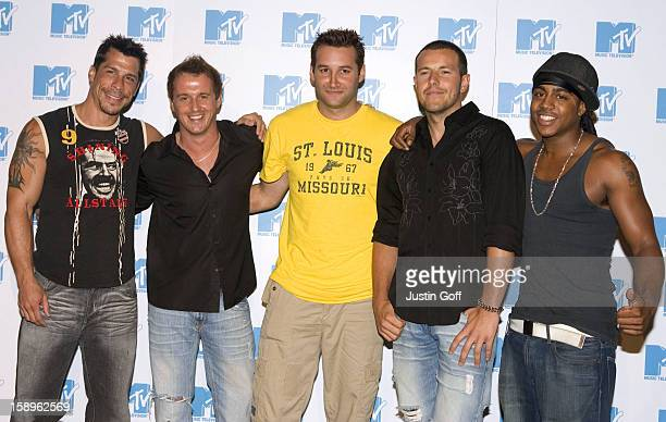 Press Conference In London To Launch New Mtv Series Totally Boyband, Featuring Dane Bowers, Danny Wood, Bradley Mcintosh, Lee Latchford Evans & Jimmy...