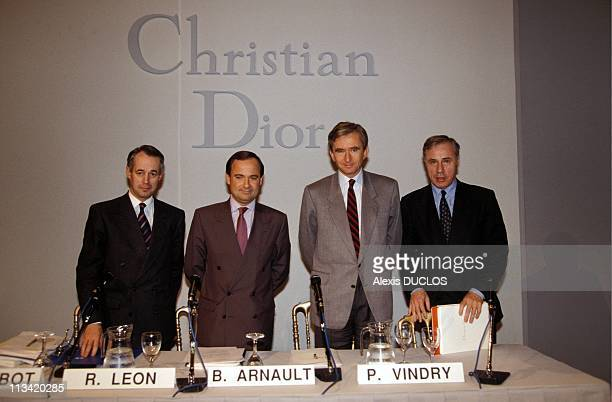 Press Conference Of Bernard Arnault On November 27th 1991 In Paris France