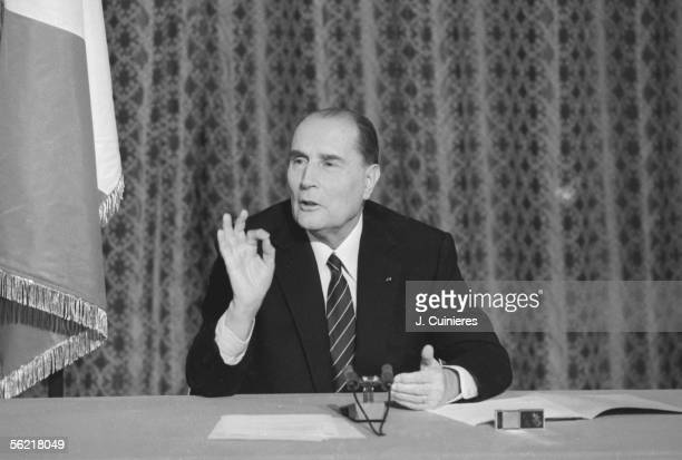 Press conference of Francois Mitterrand president of the Republic on June 9 1982