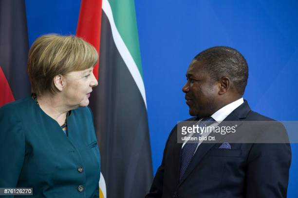 Press conference of German Chancellor Angela Merkel with President Filipe Nyusi on 19 April 2016 at the Chancellery Berlin.