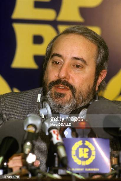 Press Conference Of Italian Judge Giovanni Falcone March 1986