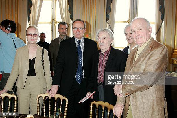 Press Conference Of 'Molieres' At Paris Theatre Followed By A Lunch At The Ministry Of Culture In Paris France On April 16 2007 Genevieve Casile...