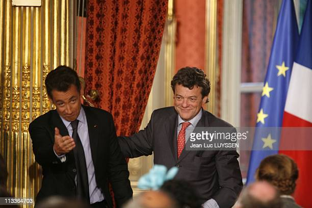 Press Conference Of Nicolas Sarkozy At The End Of The 'Grenelle De L' Environnement' At The Elysee Palace In Paris France On October 25 2007 Nicolas...