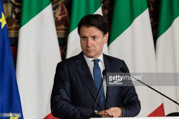 Press Conference of President of the Council of Ministers Giuseppe Conte, Italy-France Summit in Naples, February on 27,2020