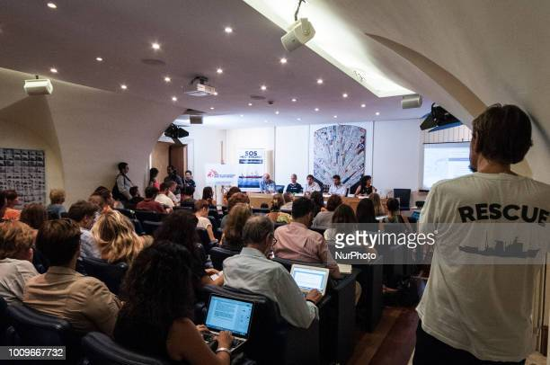 Press conference of SOS Mediteranee in Rome Italy on August 2 2018