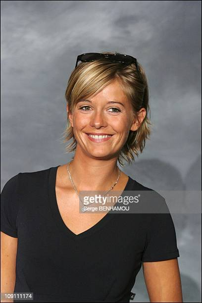 Press Conference Of Tf1 French Tv Channel On August 27 2003 In Paris France Flavie Flament
